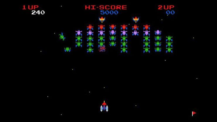 Enquanto esperava carregar Ridge Racer no PS1, o jogador podia brincar com o clássico Galaxian