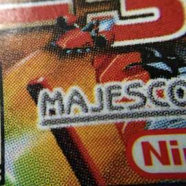 Label original impressa em off-set. Perceba que o logotipo Nintendo não é pontilhado porque é impresso em cor especial