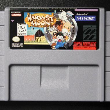 Cartucho Harvest Moon original com label original impressa em off-set