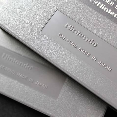 Logotipo Nintendo em alto relevo