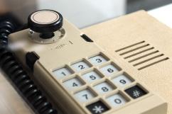 Joystick do Splice Vision (1983), console brasileiro fabricado pela empresa telefônica Splice, de Sorocaba-SP