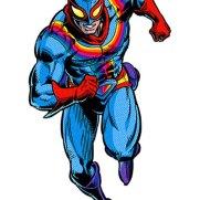 Captain Rainbow, alter-ego de Nick, teria vários ataques com seu yo-yo