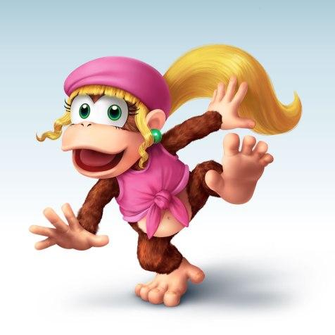 Dixie Kong (Donkey Kong Country) é a minha macaquinha favorita