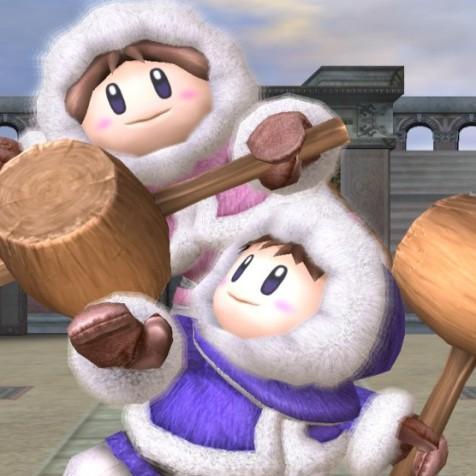 Nana e Popo (Ice Climbers), que só ficaram de fora porque o 3DS não dava conta do recado