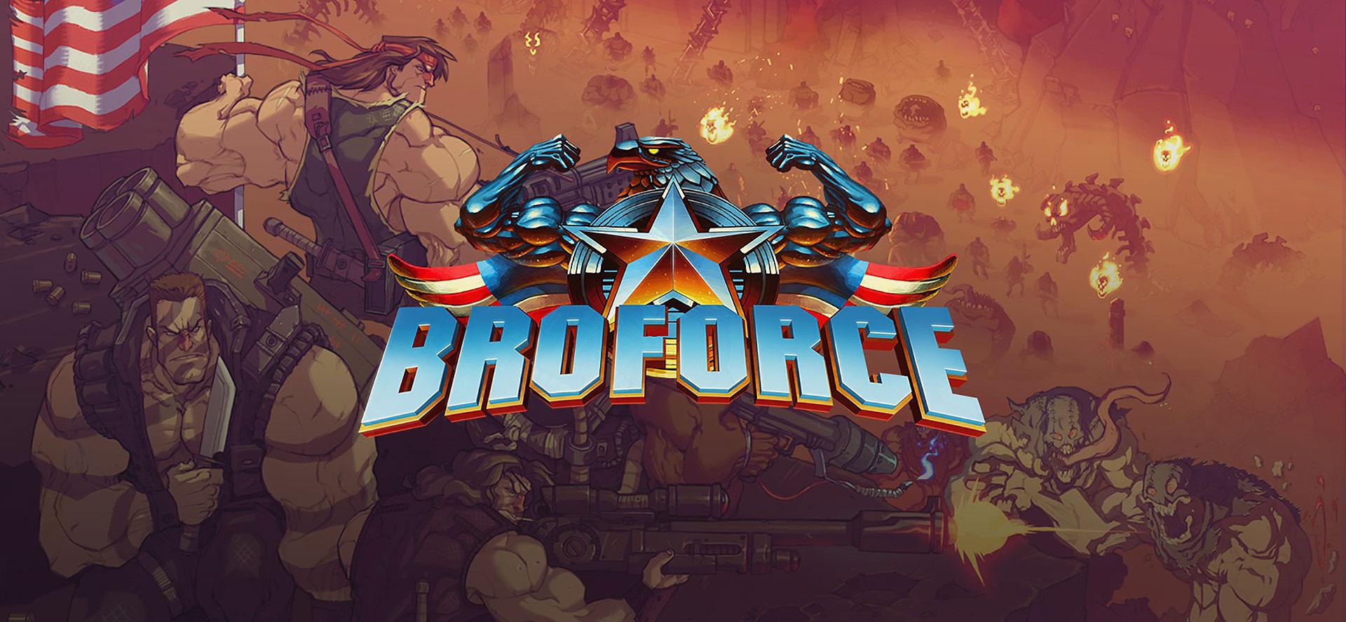 Muita explosão e testosterona 16-bit em Broforce